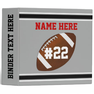 Personalized Football Binders, Football Memories 3 Ring Binder