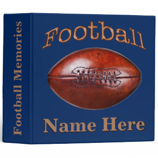 Personalized Football Binders Your COLORS and TEXT