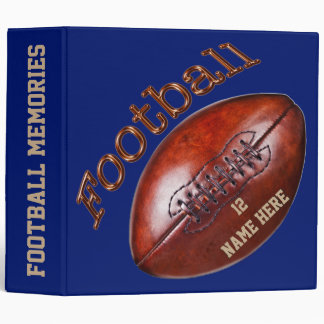 Personalized Football Binders Your Number and Name