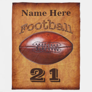 Personalized Football Blanket, Cool Vintage look