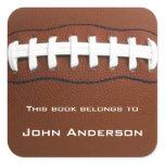 Personalized Football Bookplate Sticker