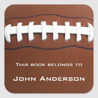 Personalized Football Bookplate Sticker