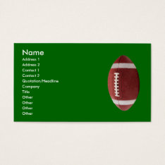 Personalized Football Business Cards at Zazzle