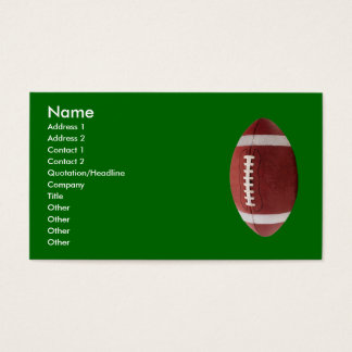 Personalized Football Business Cards
