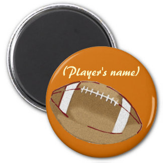 Personalized Football Button 2 Inch Round Magnet