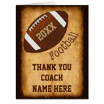 Personalized Football Coach Card, Player's NAMES Large Greeting Card