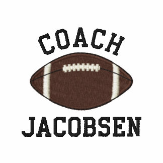 Personalized Football Coach Custom Name Embroidered Polo Shirts