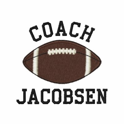 Personalized football coach embroidered polo shirt zazzle for Soccer coach polo shirt