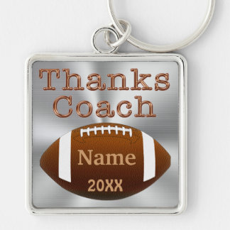 Personalized Football Coach Keychains NAME, YEAR