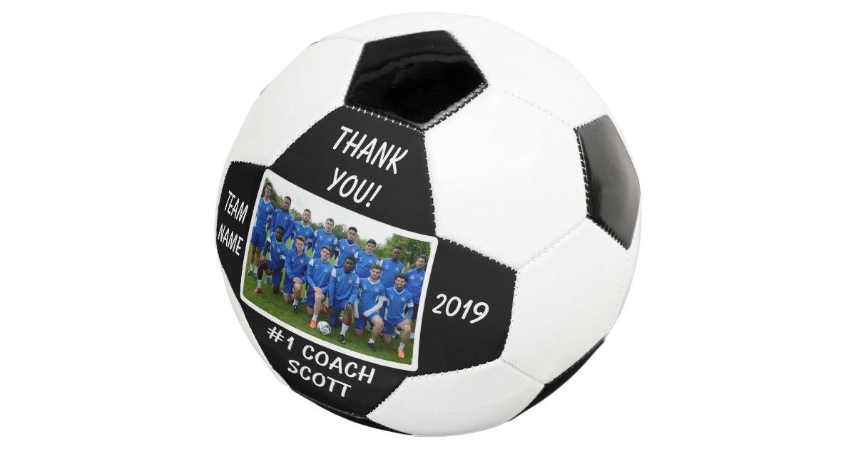 e5424c0e6 Personalized Football Coach Team Photo Thank You Soccer Ball ...
