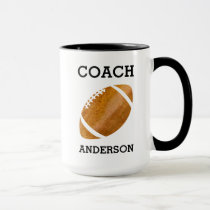 Personalized Football Coach Vintage Masculine Mug