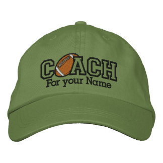 Personalized Football Coach with your name Embroidered Baseball Cap