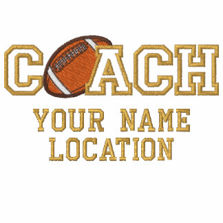 Personalized Football Coach Your Name Your Game Embroidered Shirt