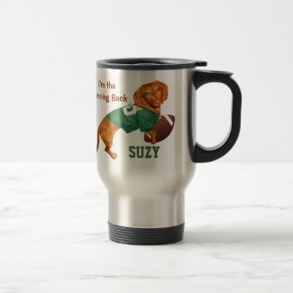 Personalized Football Dachshund Mugs