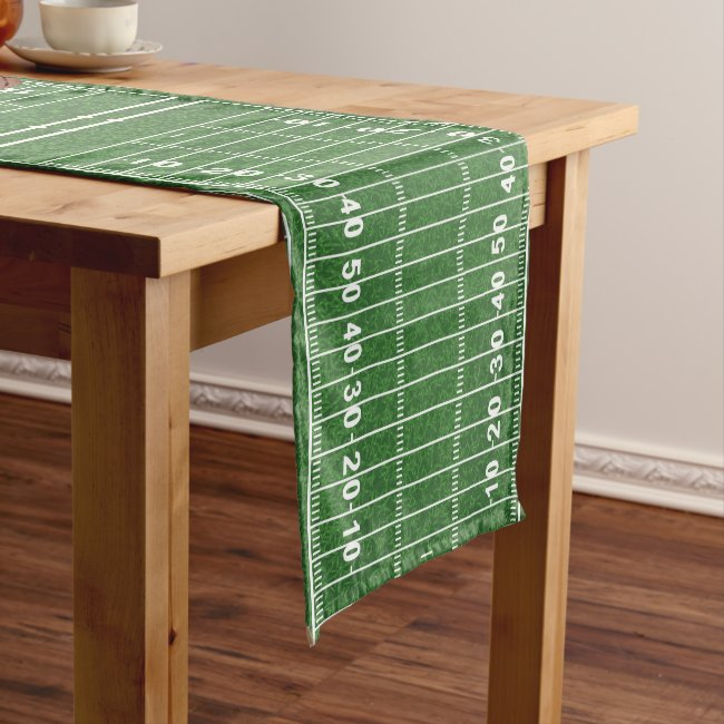 Personalized Football Design Table Runner