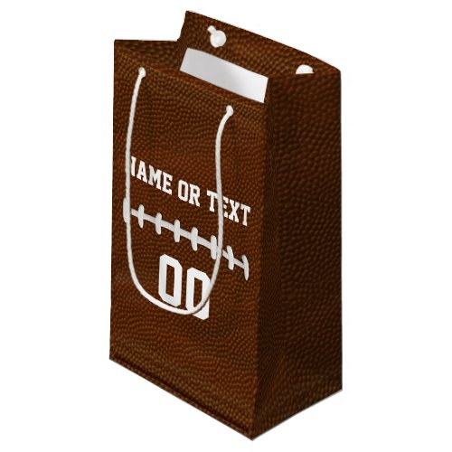Personalized Football Gift Bags with Name, Number
