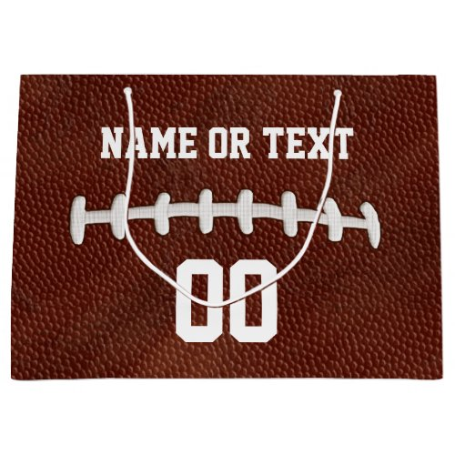 Personalized Football Gift Bags, Your Name, Number Large Gift Bag