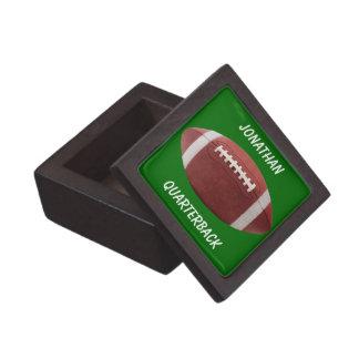Personalized Football Gift Box Premium Trinket Boxes