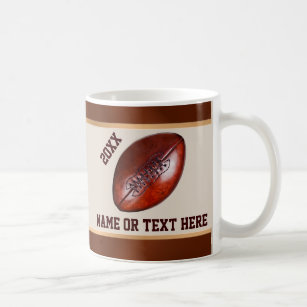 Personalized Football Gift Ideas For Boys Or Coach Coffee Mug