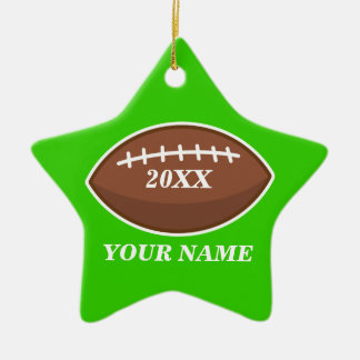 Personalized Football Green Ornament Custom Gift