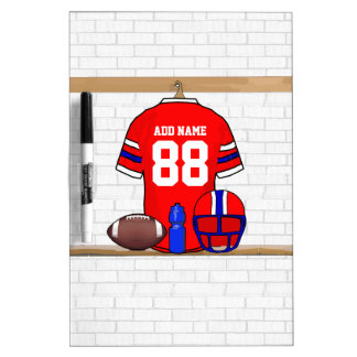 Personalized Football Grid Iron Jersey Dry-Erase Board