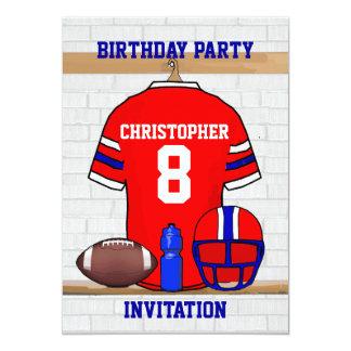 Personalized Football Grid Iron Jersey Custom Invitation
