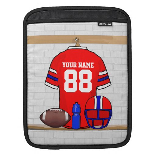 Personalized Football Grid Iron Jersey iPad Sleeves