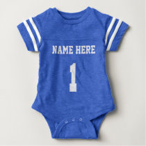 Personalized Football Jersey One Piece Body Suit Baby Bodysuit
