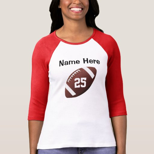 Personalized football jersey shirts for women zazzle for Custom football jersey shirts