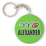 Personalized football keychain for kids with name