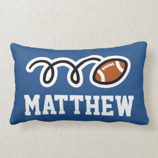 Personalized football kids bedroom pillow cushion