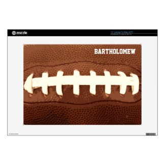 Personalized Football Laces Graphic Laptop Skin