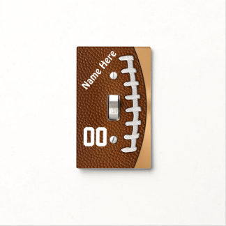 Personalized Football Light Switch Covers