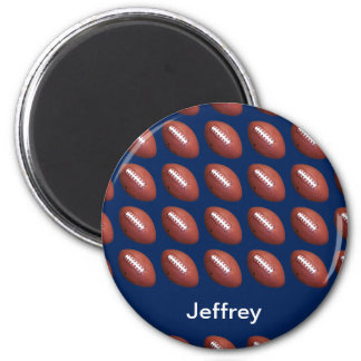 Personalized Football Magnet, Blue background Magnet