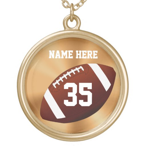 Personalized Football Necklaces w/ NAME and NUMBER