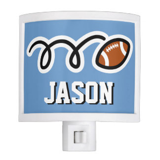 Personalized football night light for kids room