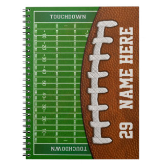Personalized Football Notebooks Your NAME, NUMBER