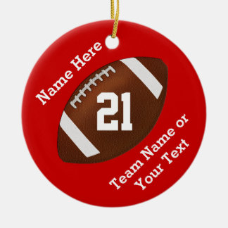 Personalized Football Ornaments Name, Team, Number