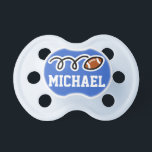 """Personalized football pacifer for baby boy pacifier<br><div class=""""desc"""">Personalized football pacifer for baby boy 