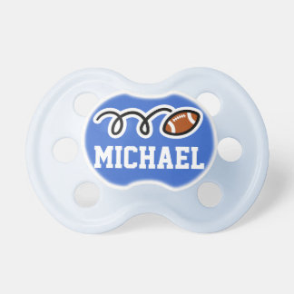 Personalized football pacifer for baby boy pacifiers