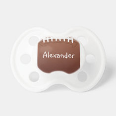 Personalized Football Pacifier at Zazzle