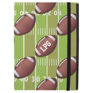 Personalized Football Pattern on Sports Field iPad Pro Case