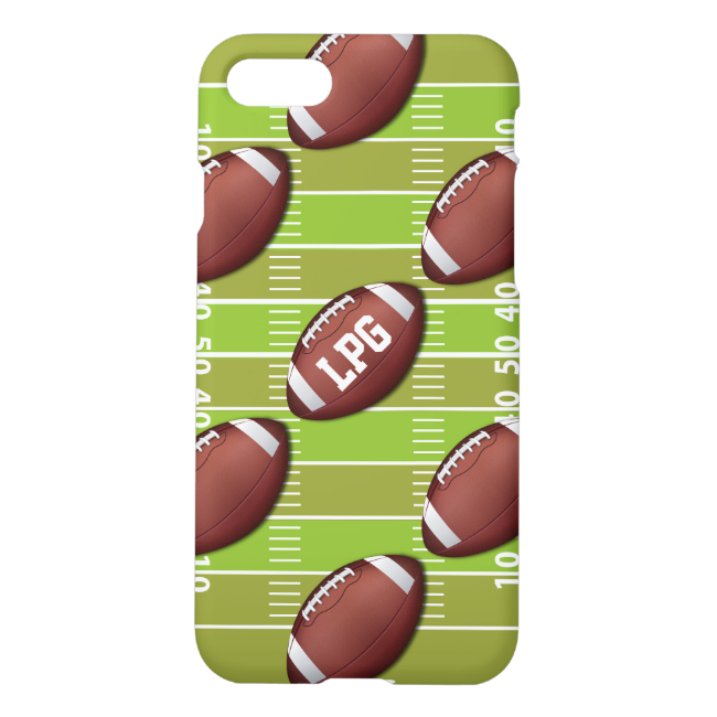 Personalized Football Pattern on Sports Field iPhone 7 Case