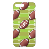 Personalized Football Pattern on Sports Field iPhone 7 Plus Case
