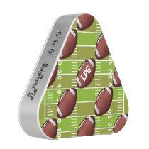 Personalized Football Pattern on Sports Field Speaker