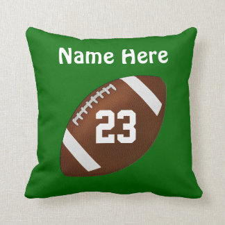 Personalized Football Pillow CHANGE COLOR and TEXT