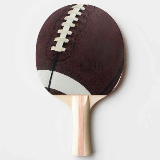 Personalized Football Ping Pong Paddle | Zazzle
