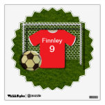 Personalized Football Soccer Themed Wall Decal