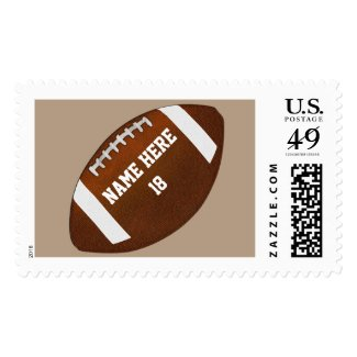 PERSONALIZED Football Stamps 3 Lines of Your Text