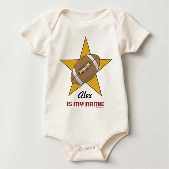 Personalized Football Star Baby Bodysuit